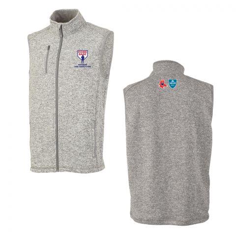 Grey Sweater Fleeced Vest